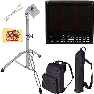 Roland SPD-SX Sampling Pad Bundle with Roland CB-HPD Carrying Bag, PDS-10 Stand, Drum Sticks, and Austin Bazaar Polishing Cloth