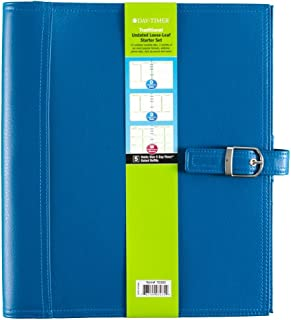 Day-Timer  Undated Loose-Leaf Starter Set, Size 5, Traditional, 8.5 x 11 Inch Page Size, Teal (70305)