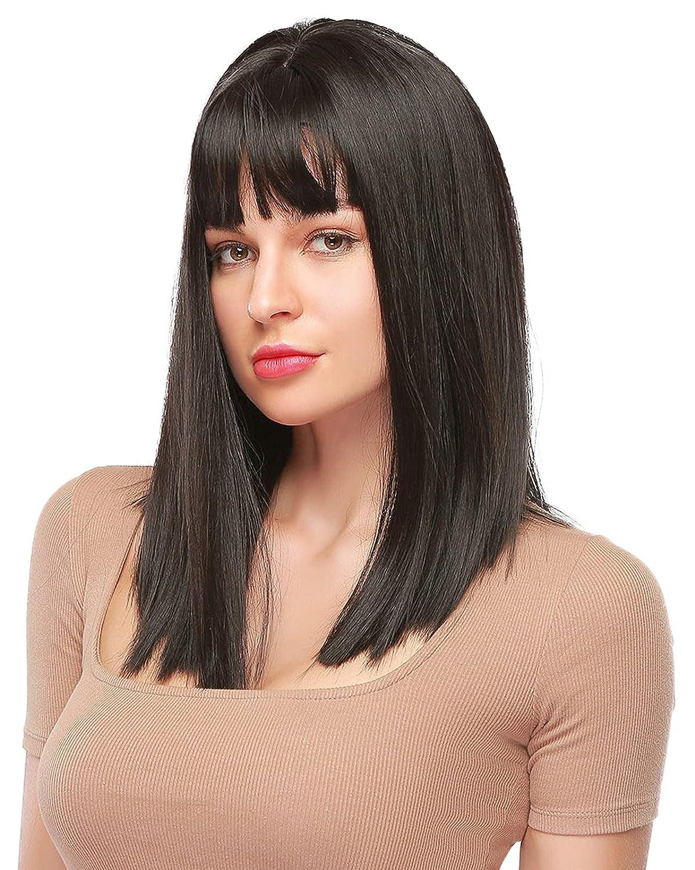 Black Max 89% OFF Straight Wigs Short Bob Resistant Replacement Heat Ha New color