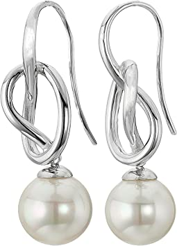 Majorica 10mm Round Knot Earrings