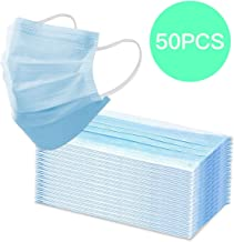 Disposable Face Masks Medical Mask (Blue 50pcs), Comfortable Sanitary Surgical Mask for Dust, Medical Earloop Mouth Mask,3-Layer Anti Dust Breathable,Protection and Personal Health Professional