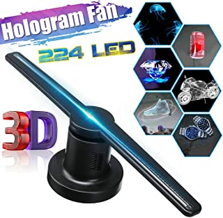 Tech Ex 3D Holographic Fan【Revolve 244 PCS LED】Hologram Advertising Display 【17 Inch】Air Projector Screen for Business, Special Event Advertising or Entertainment