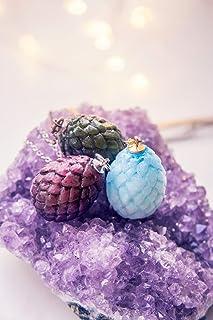 Collana di uova di drago, C'era una volta, gioielli fantasy, gioielli in resina, gioielli stregati, collana drago, gioiell...