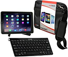Navitech Converter Pack Including Multi OS Wireless Bluetooth Keyboard/Black Case Bag & Portable Stand Compatible with The Linx 7 Tablet | Linx 1010 | Linx 1020 | Linx EM-I8270 7 inch Tablet