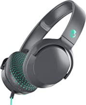 Skullcandy Riff On-Ear Headphones with Microphone, Refined Acoustics, Foldable, Call and Track Control, Plush Ear Cushions with Durable Headband, Gray/Speckle/Miami