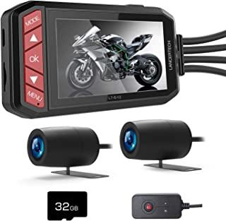 Máy thâu hình đặt trên xe ô tô – LANCERTECH LT-510 Motorcycle Dash Camera, FHD 1080P Front and Rear Driving Recorder 2.7 Inch LCD Screen 130° Wide Angle with WDR, G-Sensor, Loop Recording