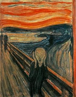 絵画風 壁紙ポスター (はがせるシール式) エドヴァルド・ムンク 叫び The Scream 1893年 生命のフリーズ オスロ国立美術館 キャラクロ K-MNC-001S2 (466mm×594mm) 建築用壁紙+耐候性塗料