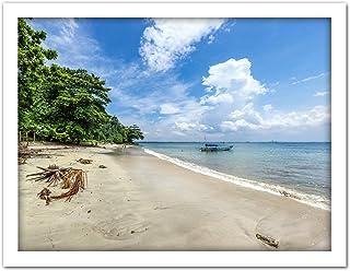 Crisco 1492 Karang Bolong Strand Tropisk Indonesien Foto Konstverk Inramad Väggkonst Tryck 45 x 24 tum