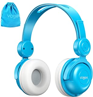 Kids Headphones with Pouch, Vogek Wired On-Ear Child Headset with Mic, HD Sound Sharing Function and 85dB Volume Limited H...