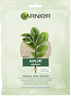Garnier BIO Esponja Exfoliante Limpiadora de Konjac Natural