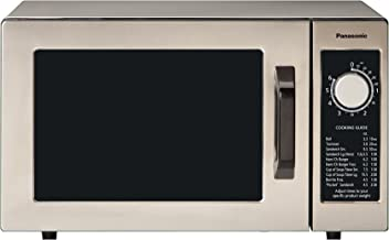 Panasonic Countertop Commercial Microwave Oven with Dial Timer, Safety Lock, 1000W of Cooking Power - NE-1025F - 0.8 Cu. Ft (Stainless Steel)