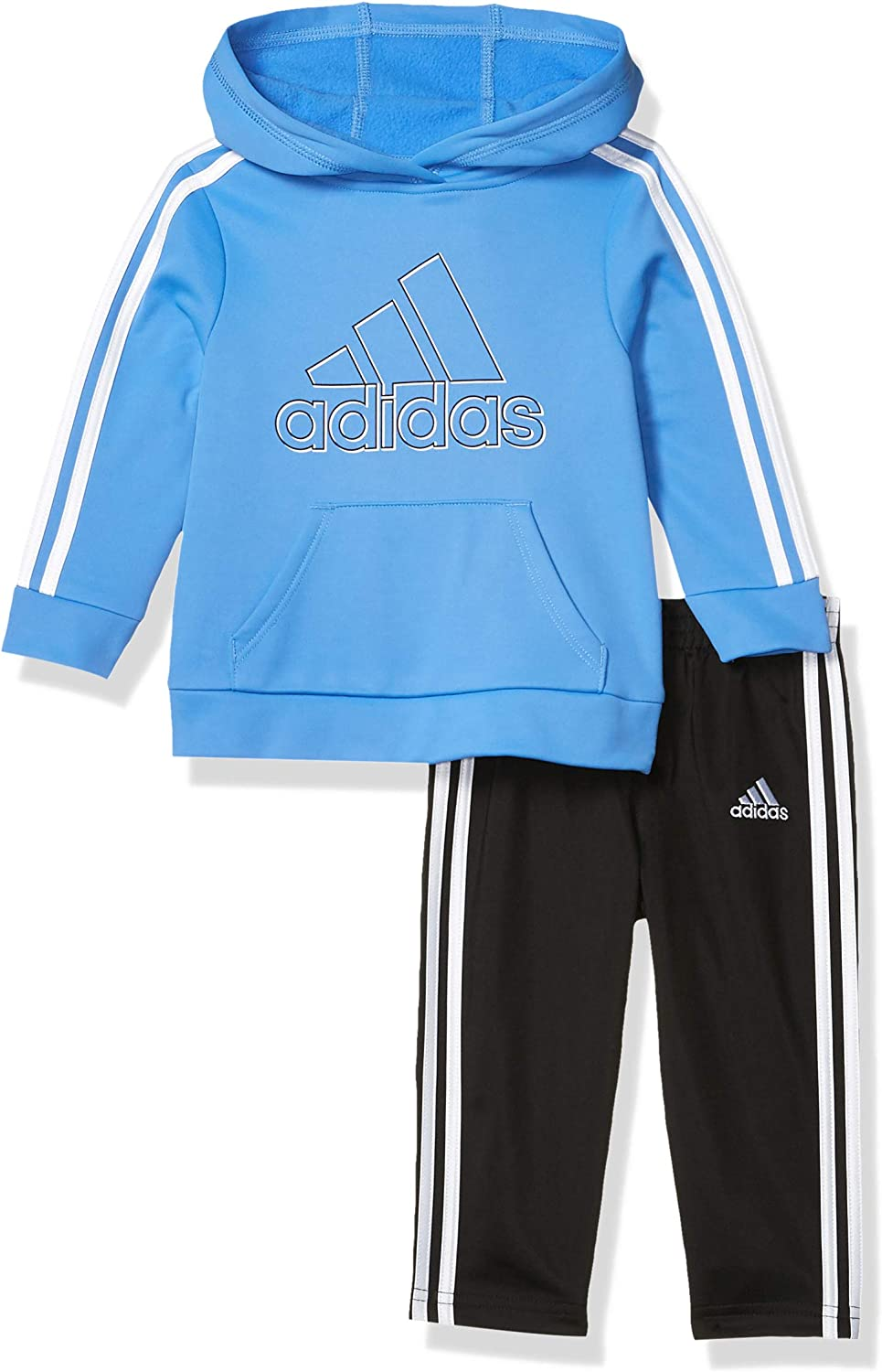 adidas baby-boys Pullover Hoodie and Sweatpant Set