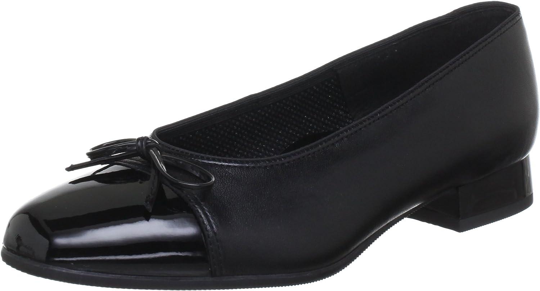 ARA 43708-01 Black Patent Toe Cap Pump shoes