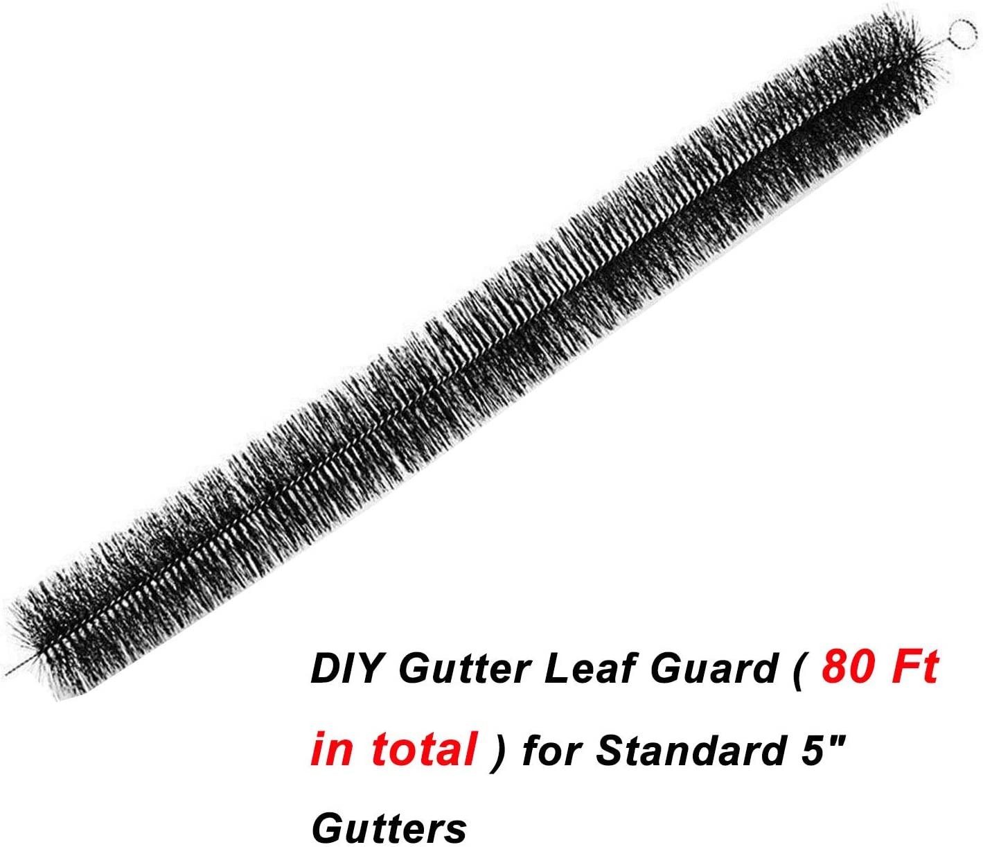 Simple For 4.5~5 Inch Gutter Brush Filter Leaf Debris Guard Gutter 100cm length Standard Gutter 4 Inch Brush guard 3.2ft x 25 80ft 25 Pcs