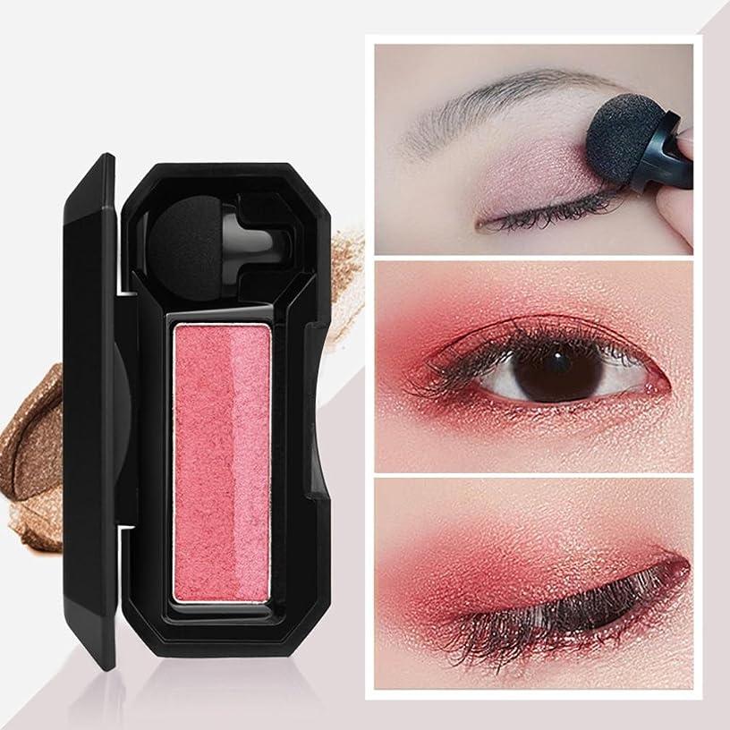 借りている微視的どう?ビューティー アイシャドー BOBOGOJP 女性 2色 可愛い デザイン ミニスタンプアイシャドーパレット 携帯便利 極め細かい 化粧パウダー 持続性 スモーキーメイク (21A)