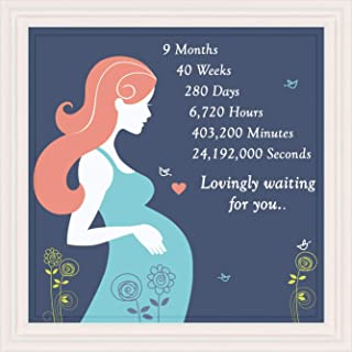 Gifts for Pregnant Women, Unique 7x7 Tile Artwork Special Expecting Moms, Pregnancy Gift Ideas for Mothers, Wife or Friend, First Time Mom & Expectant Mother, Mother`s Day Presents, Great Home Decor