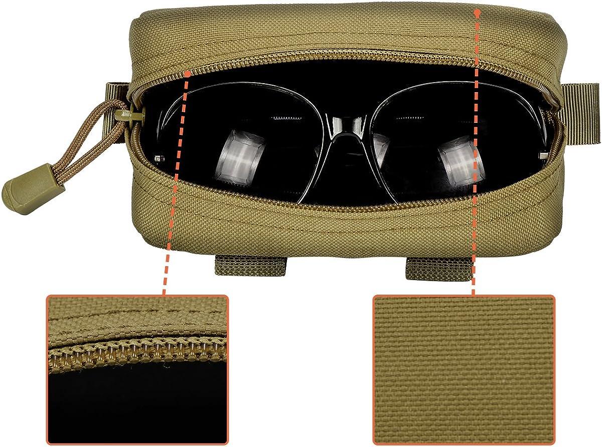 IronSeals Tactical Sunglasses Case, Tactical Zipper Portable Eyeglasses Carrying Case Sunglasses Hard Case Glasses Pouch