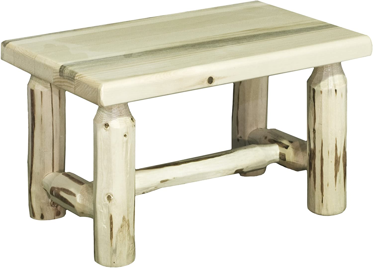 Montana Woodworks Montana Collection Footstool, Clear Lacquer Finish