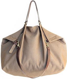 Borsone da viaggio, borsa da viaggio, borsa tracolla, borsa a spalla, Weekend bag, borsa in tela IDROREPELLENTE marrone ol...