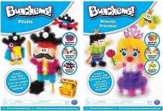 Bunchems 6039994 Themes Set Dragon / Unicorns - Creative Sets with Fluorescent Velcro Balls( Assorted)