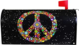 Wamika Homosexual Wreath Peace Love Rainbow Mailbox Cover Magnetic Standard Size,Spring Gay Pride Love is Love Letter Post Box Cover Wrap Decoration Welcome Home Garden Holiday Outdoor 21