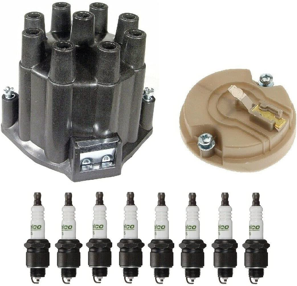 Distributor Popular product Rotor Cap Spark Plugs Max 58% OFF Kit with Cutlass Compatible