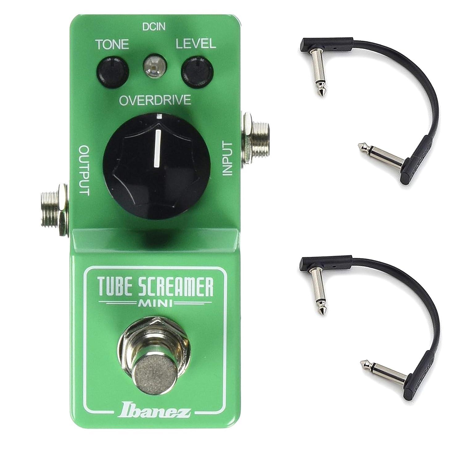 Ibanez Tube Screamer Mini w/RockBoard Flat Patch Cables Bundle
