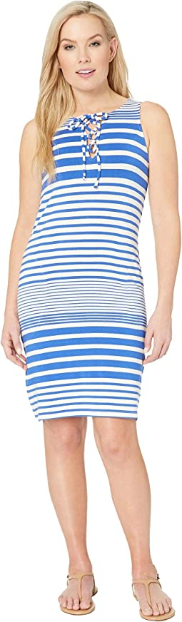 Beach Glass Stripe Short Dress Cover-Up