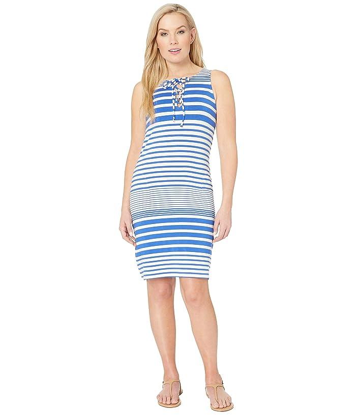Tommy Bahama Beach Glass Stripe Short Dress Cover-Up (Beach Glass Blue) Women