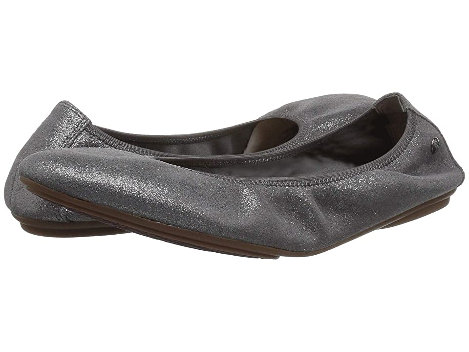 Hush Puppies Chaste Ballet (Dark Grey Metallic Suede) Women