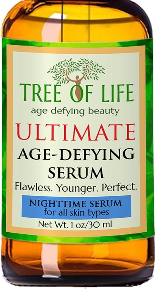 ネックレット書店め言葉Tree of Life Beauty 夜間 血清 顔 肌 用 フェイシャル セラム