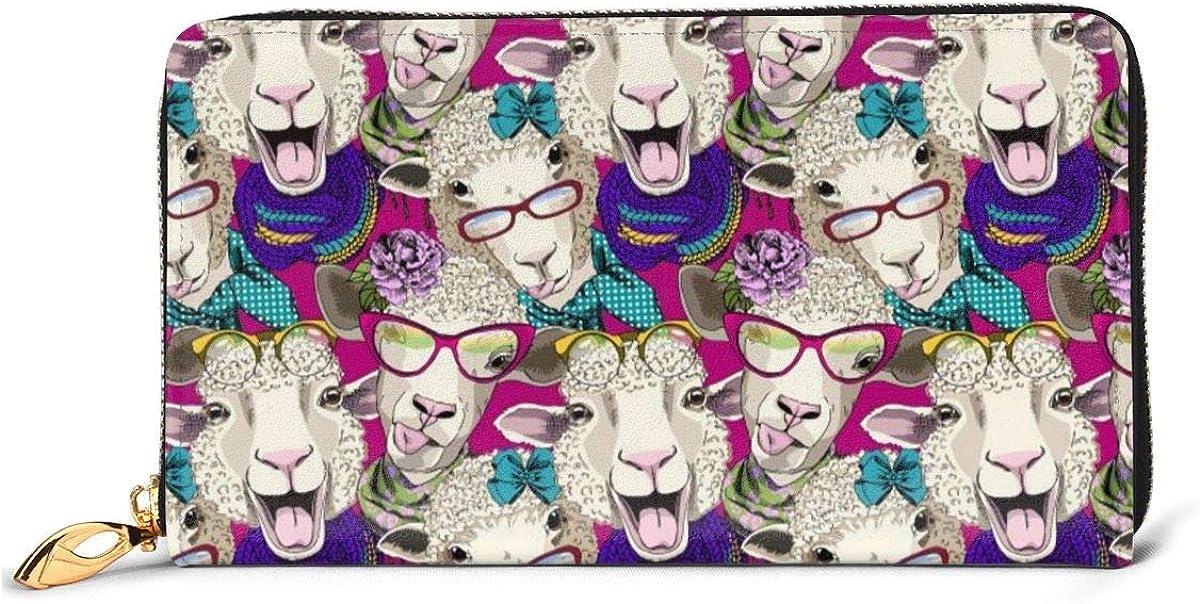Regular dealer Dressed Sheep Hooligan Pattern Womens Wallet Genuine San Jose Mall Wal Leather