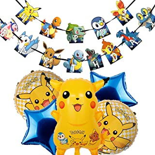 Cumpleaños Pokemon - ZSWQ Pikachu Fiesta Globos Helium Foil Globos Pokemon Pikachu Globos de Fiesta Aluminio Globo para De...