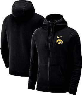 Nike Iowa Hawkeyes Full Zip Club Fleece Hoodie Sweatshirt (Small)