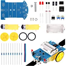 Simple Robot Chassis Soldering Kit Practice Line Following Tracking Smart Car Electronic DIY Assemble Kit for Student Teens STEM Science Learning Project