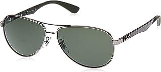 نظارات تيك افياتور الشمسية للرجال من راي بان - مقاسات 58-13-140 ملم, (جريه مارل), 58 mm