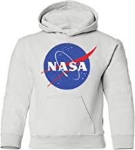 NuffSaid Youth NASA Meatball Logo Worm Hooded Sweatshirt Sweater Pullover - Unisex Hoodie