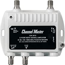 Channel Master Ultra Mini 2 TV Antenna Amplifier, TV Antenna Signal Booster with 2..