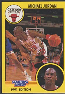 1991 Kenner Michael Jordan Bulls Starting Line Up Card #NNO