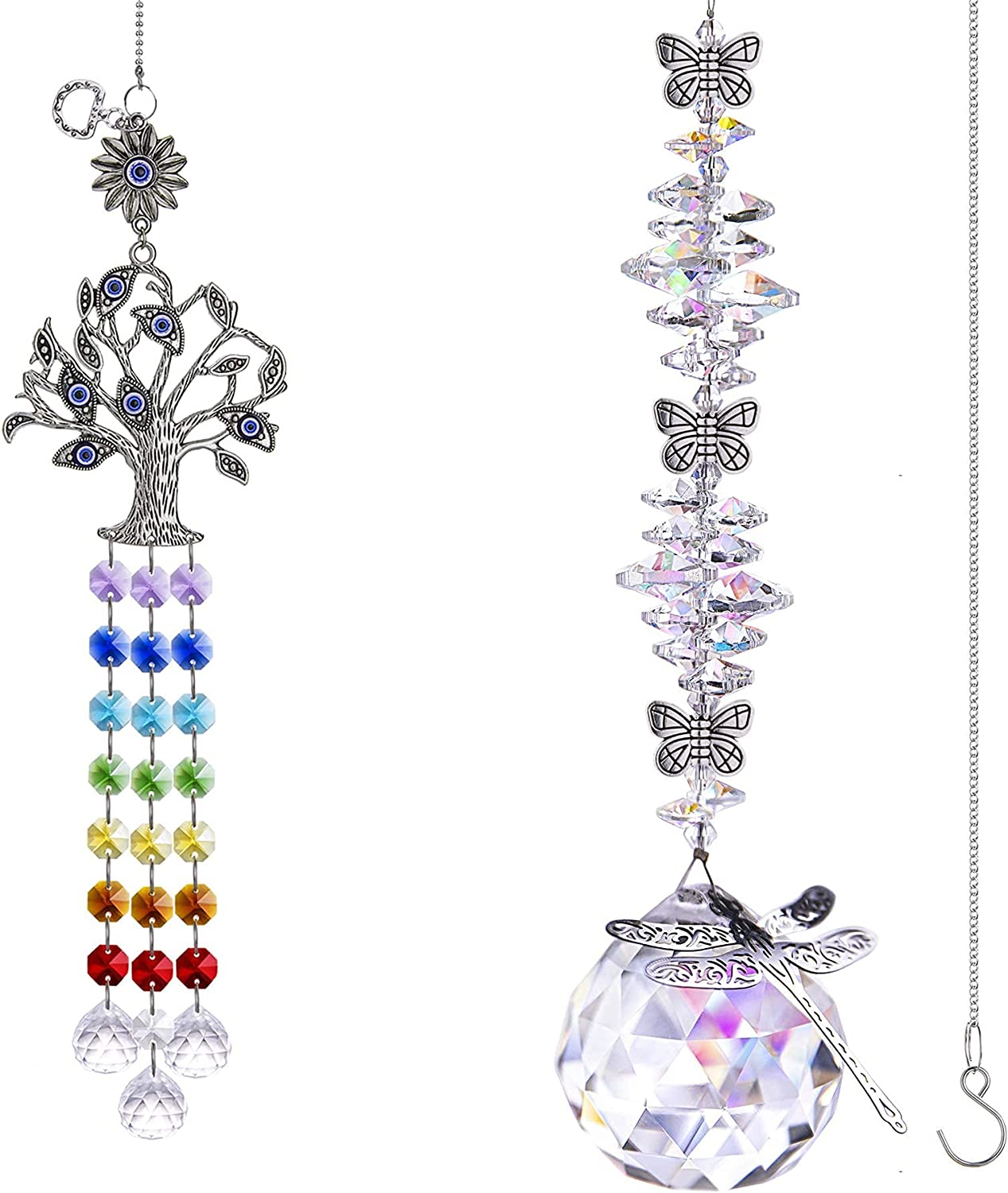 Tree of Life Complete Free Shipping and Dragonfly Crystal Austin Mall Hanging Suncatcher Butterfly