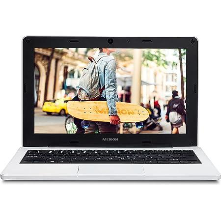"""MEDION Classmate E11201 - Ordenador portátil para educación de 11,6"""" HD (Intel Celeron N3450, 4GB de RAM, 64GB eMMC, Intel HD Graphics, Windows 10 Pro Academic) Color Blanco - Teclado Qwerty Español"""
