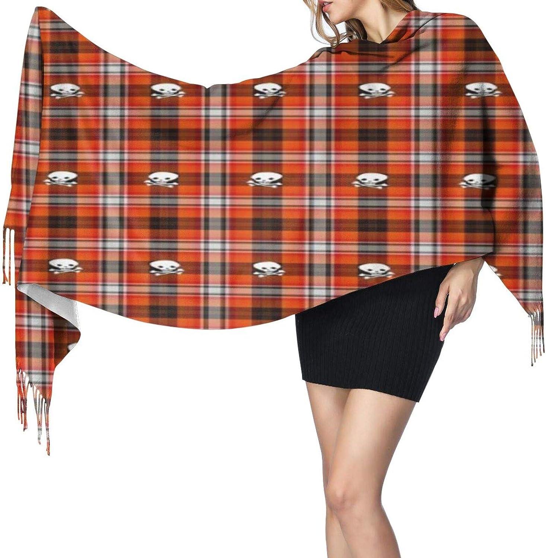 Cashmere fringed scarf Scottish Terrier Plaid Skull winter extra large scarf