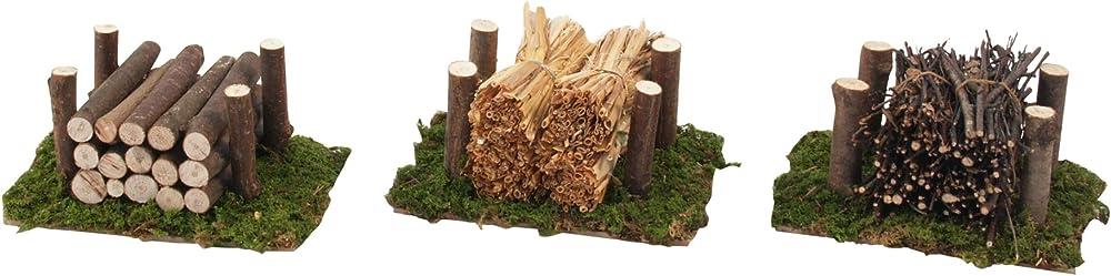 Ferrari & arrighetti cataste legna, paglia, fascine,accessorio per presepe. Bertoni_655/6