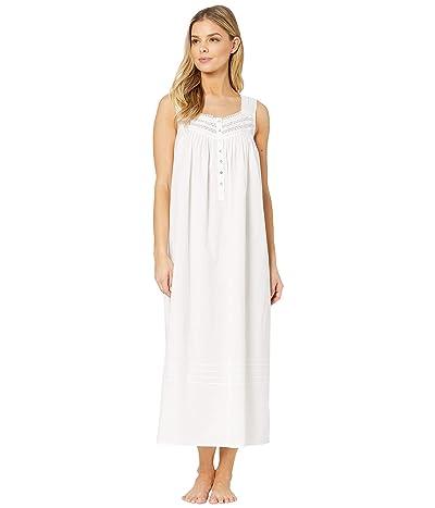 Eileen West Cotton Lawn Woven Sleeveless Ballet Nightgown (White) Women