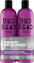Bed Head by Tigi Dumb Blonde Hair Shampoo and Conditioner, 750 ml, Pack of 2
