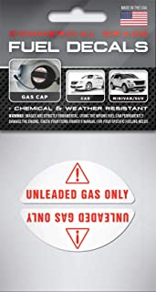 unleaded gasoline stickers