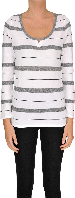 Base Milano Women's MCGLMGP000005089E White Cotton Sweater