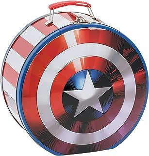 Vandor 26970 Marvel Shield Shaped Tin Tote, Multicolored