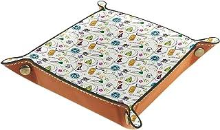 Passover Wine Frogs Plateau coloré en cuir pour table de chevet ou bureau 20 x 20 cm
