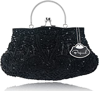 Bagood Women's Vintage Style Beaded Sequined Evening Bag Wedding Party Handbag Clutch Purse
